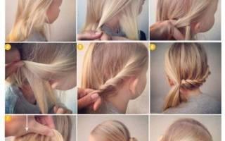 Быстрая прическа на длинные волосы на каждый день, в школу для девочки, пошагово с фото своими руками в домашних условиях, на средние и короткие с челкой
