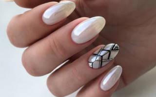 Дизайн ногтей перламутровый. Фото розовый с блестками, белый френч, сиреневый комбинированный со стразами, рисунком