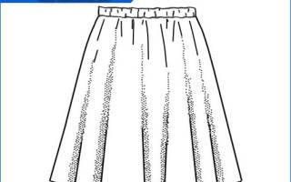 Юбка полусолнце. Выкройка своими руками пошагово: расчет, расход ткани. Фото, как сшить юбку на резинке, кокетке, с поясом, одним швом, из фатина, клеш, для девочки
