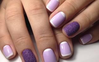 Маникюр в фиолетовых тонах. Фото шеллак, с рисунком, дизайном на короткие и длинные ногти гель-лаком