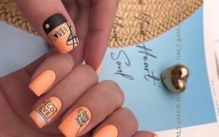 Маникюр с надписями на ногтях. Фото на русском, английском языке, модные идеи