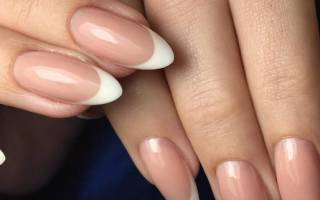 Френч на миндалевидных ногтях: фото дизайна