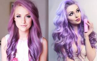 Темно-фиолетовый цвет волос. Фото, кому идёт парням и девушкам. Краски, техники окрашивания