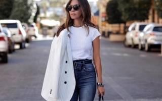 Голубые женские джинсы. С чем носить, фото: с высокой посадкой, завышенной талией, рваные. Модные образы, идеи