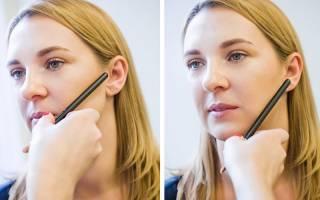 Скульптурирование лица. Фото пошагово макияж сухими корректорами, тенями. Как правильно сделать, схема для квадратного, треугольного, овального, круглого, худого, полного лица. Видео-уроки