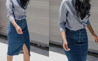 Юбка-карандаш. С чем носить, фото, кожаная, джинсовая, с завышенной талией, трикотажная юбка