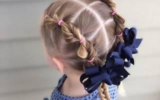 Прическа с косами на средние волосы для девочки, женщин. Фото пошагово своими руками с челкой, видео