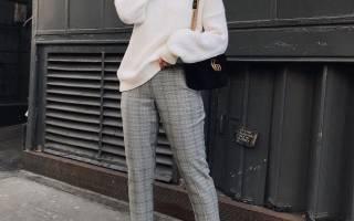 Коричневые брюки. С чем носить женщинам, мужчинам. Фото вельветовые, кожаные, в клетку, с принтом, стрелками, узкие, широкие, классические, льняные, темно, светло, ярко, серо-коричневые