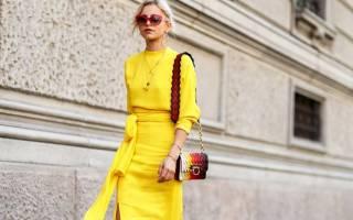 С чем сочетается желтый цвет в одежде. Фото, что означает, кому подходит, с чем носить