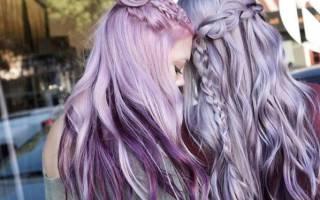 Пепельно-фиолетовый цвет волос. Фото, кому подойдет для мужчин, девушек. Краски, техники окрашивания