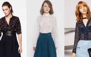 Блузки 2019 года модные тенденции, фото: женские стильные, для полных женщин, из шифона, красивые прозрачные, шелковые, праздничные, кружевные