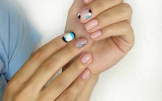 Маникюр с геометрическим рисунком. Фото на короткие, длинные ногти. Модные тенденции, новинки дизайна 2019