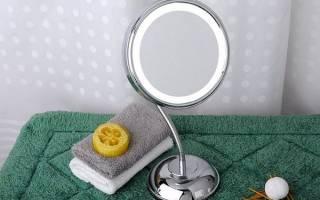 Зеркало для макияжа с подсветкой настольное, настенное, маленькое, увеличивающее, профессиональное двустороннее, сенсорное с led-подсветкой, лампочками. Рейтинг лучших, цены