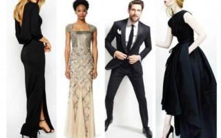 Блэк тай (Black Tie) дресс код для женщин, мужчин в одежде. Стиль Black tie. Фото