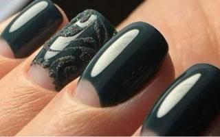 Темный маникюр на короткие ногти. Фото, дизайн, новинки 2019 гель лаком