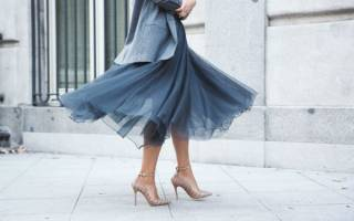 Пышная юбка. С чем стильно носить, короткая, длинная, до колена, миди. Как сшить юбку из фатина (белый, черный), фото