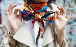 Как завязать красиво платок на шее. Способы, как носить маленький, большой, квадратный, шелковый, треугольный. Видео
