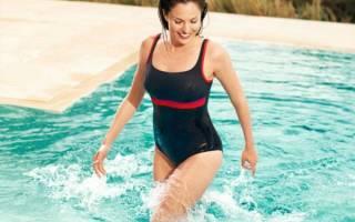 Слитные купальники с утягивающим эффектом для полных: спортивные, корректирующий, скрывающие живот, с юбкой, чашками, пушапом. Фото