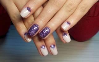 Маникюр с блестками на кончиках ногтей. Фото прозрачный, как сделать шеллаком пошагово, дизайны, видео