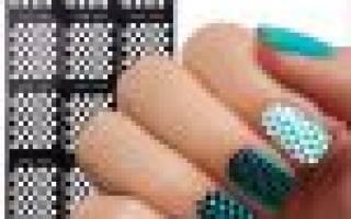 Как пользоваться трафаретом для ногтей — видео о нанесении