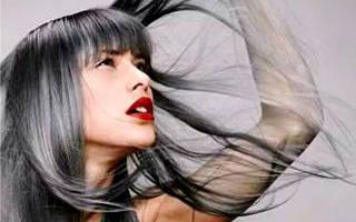 Графитовый цвет волос. Фото, кому подойдёт, какая краска, до и после на коротких, длинных волосах