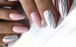 Маникюр с точками. Фото на короткие, длинные ногти. Рисунки с линиями, цветы, полоски. Варианты дизайна, как сделать пошагово в домашних условиях