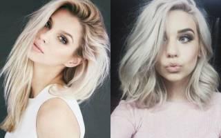 Платиновый блондин цвет волос. Фото до и после окрашивания, оттеночные шампуни, тоники, краски. Кому идёт