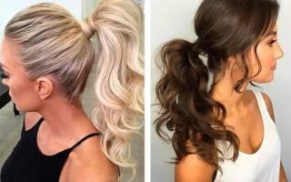 Прически с хвостом на средние волосы для девочек, женские. Фото пошагово своими руками